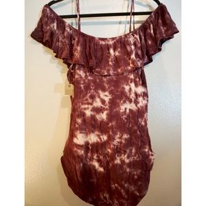 American Eagle Outfitters Tops - Purple tie dye body suit!